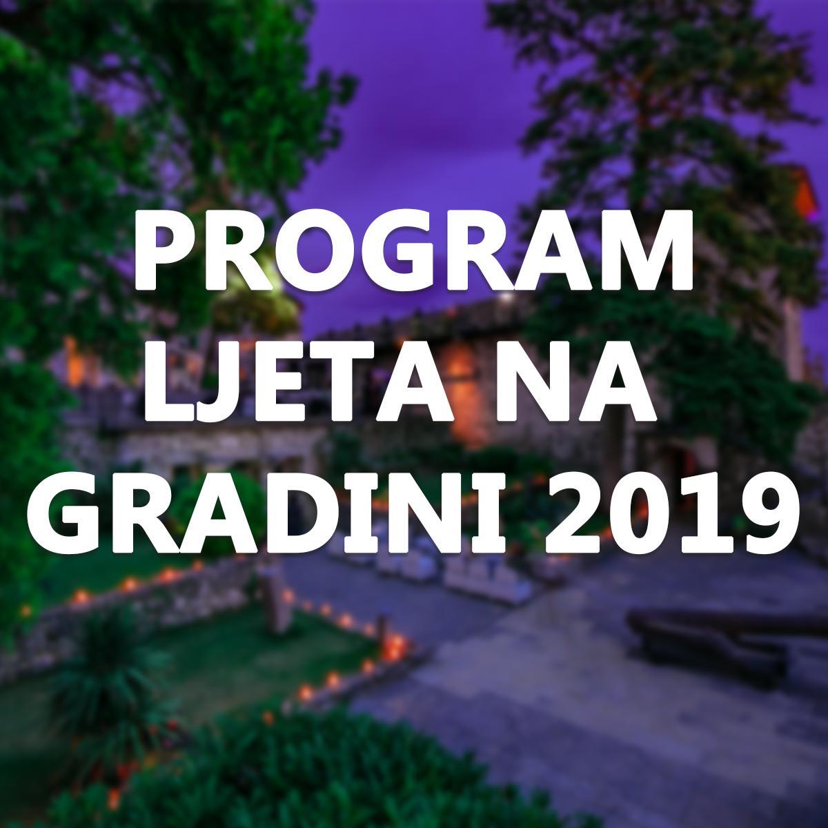 PROGRAM LJETA NA GRADINI 2019
